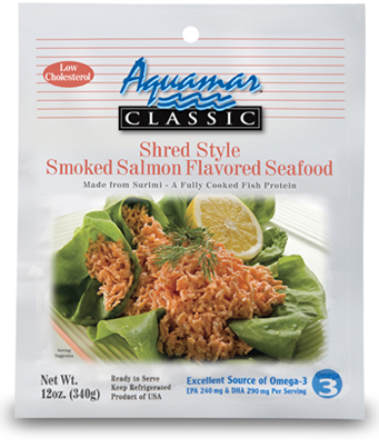 Aquamar Classic 12oz Smoked Salmon Shred Style Package