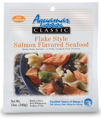 Aquamar Classic 12oz Flake Style Salmon Package