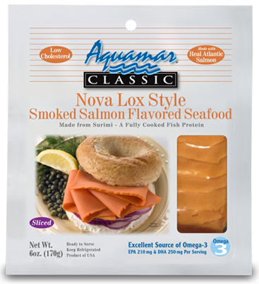 Aquamar Classic 6oz Nova Lox Style Smoked Salmon Package