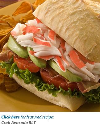 Crab Avocado BLT Recipe Photo