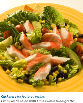 Crab Fiesta Salad with Lime Cumin Vinaigrette Recipe