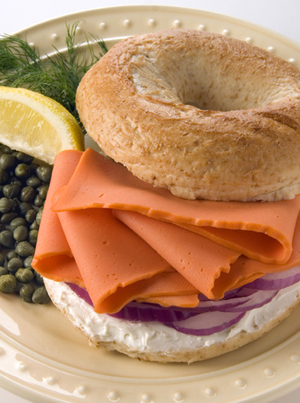 Lox and Bagels Serving Suggestion Photo