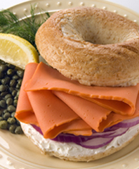 Aquamar Classic Nova Lox Smoked Style Salmon Serving Suggestion Photo