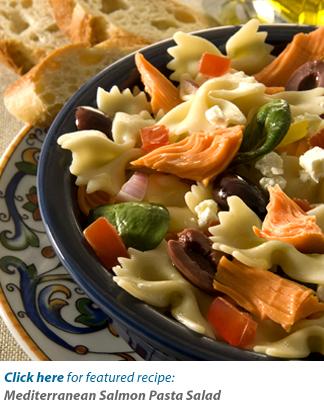 Mediterranean Salmon Pasta Salad Recipe