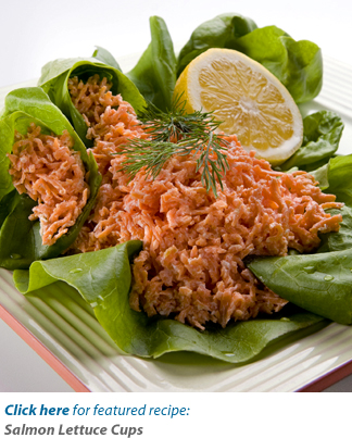 Salmon Lettuce Cups Recipe